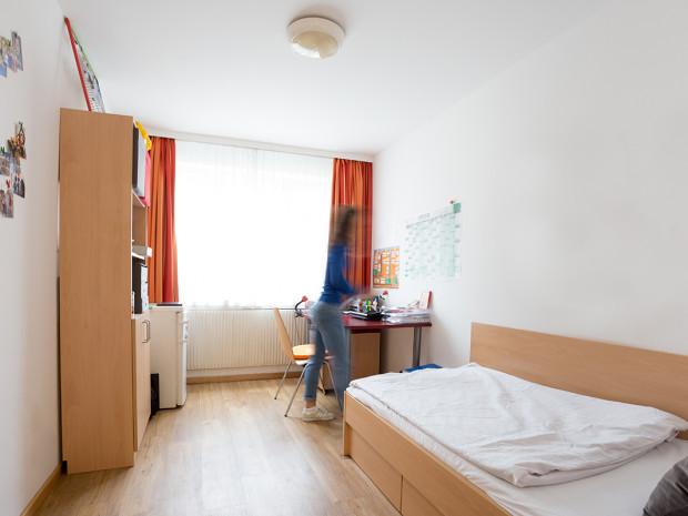 Einbettzimmer des ÖJAB-Hauses Burgenland 3.