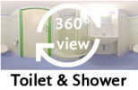 360°-view Toilet & Shower
