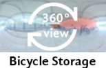 360-view of the Bicycle Storage Room.