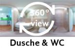 360-Grad-Aufnahme des Badezimmers