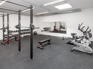 Fitness room at the ÖJAB-Haus Niederösterreich 1. Foto: myNext.