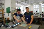 Foto 7: Den Lehrabschluss am BPI der ÖJAB nachholen macht Spaß, hier der Berufsbereich Glasbautechnik.