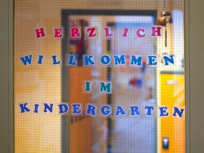 Eingangsbereich des Kindergartens kindercompany.