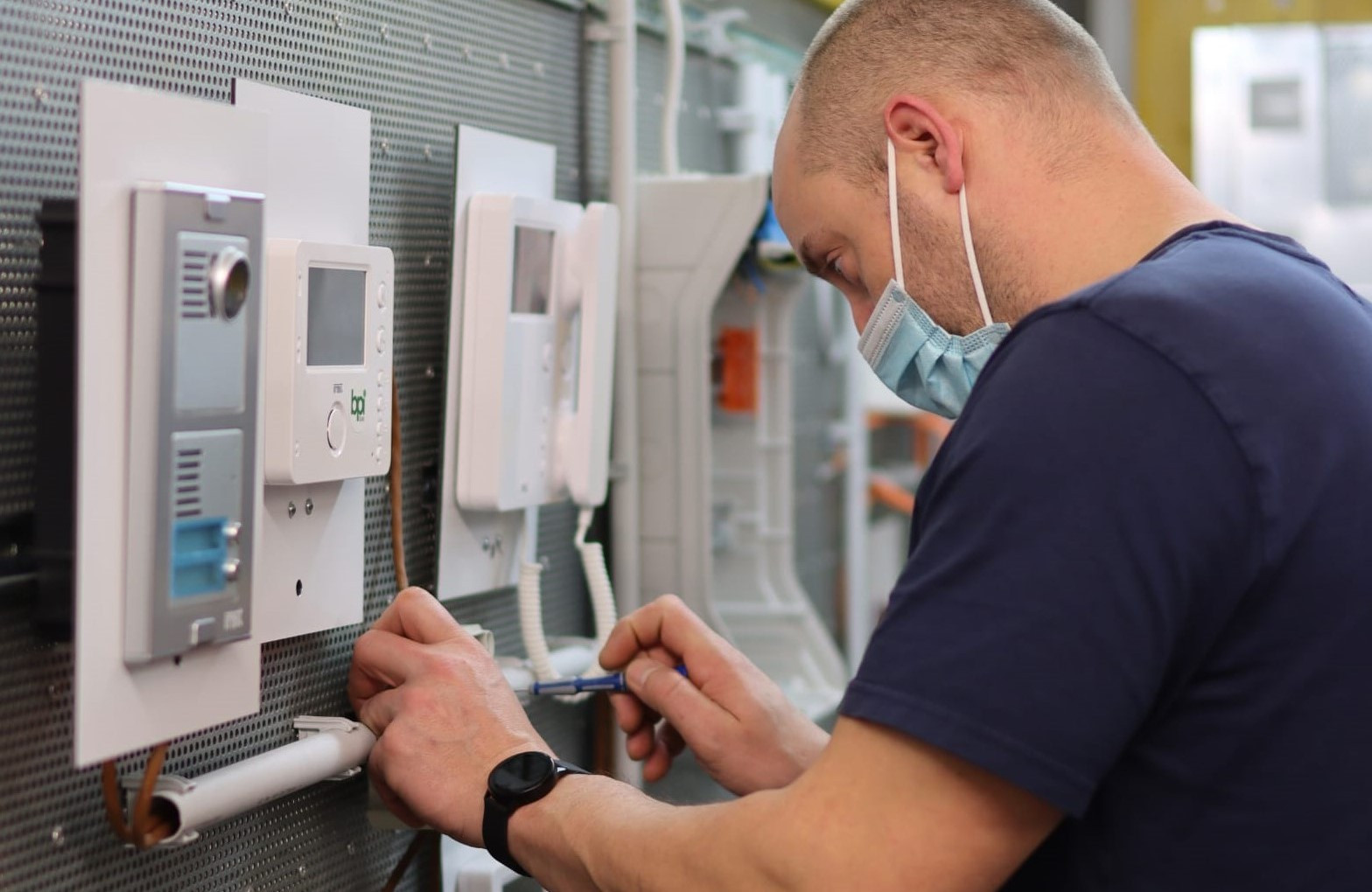 Teilnehmer der Elektrotechnik-Fortbildung