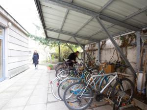 Bicycle storage space of the ÖJAB-Haus Dr. Rudolf Kirchschläger.