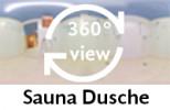 360-Grad-Aufnahme: Sauna Dusche
