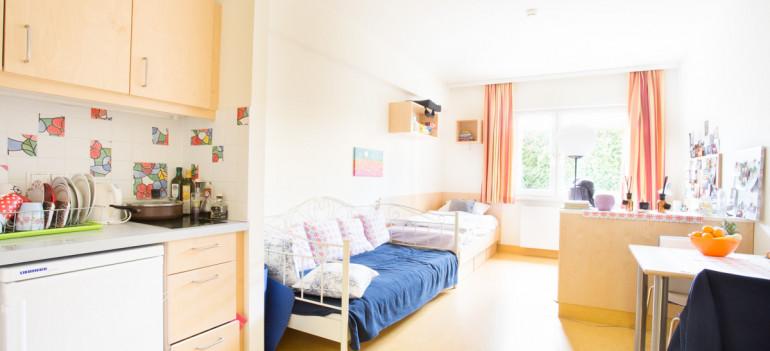 Einbettzimmer im ÖJAB-Haus Liesing.