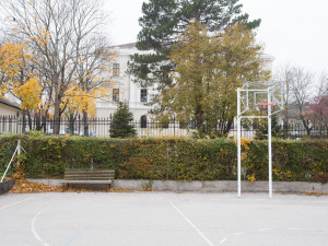 Basketball court of the ÖJAB-Hauses Mödling.