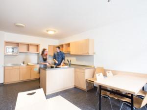 Communal kitchen at the ÖJAB-Haus Dr. Rudolf Kirchschläger.