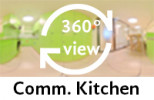 360° view of comm. kitchen
