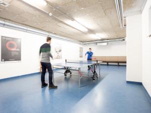 Tischtennisraum im ÖJAB-Europahaus Dr. Bruno Buchwieser.