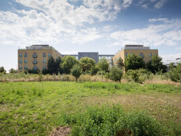 Außenaufnahme des ÖJAB-Hauses Eisenstadt.