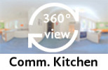 360° view of communal kitchen