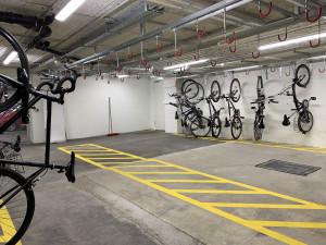 Bycicle storage place at the ÖJAB-Haus Niederösterreich 1. Foto: myNext.