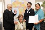 Von links: Eduard Schüssler, Gattin Mag. Romana Schüssler, Sohn Prof.h.c. MMag. Thomas Schüssler, Tochter und ÖJAB-Geschäftsführerin Dr. Monika Schüssler.