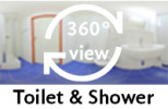 360-view of a bathroom in a Twin Room XL.