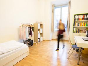 Einbettzimmer im ÖJAB-Haus Graz.