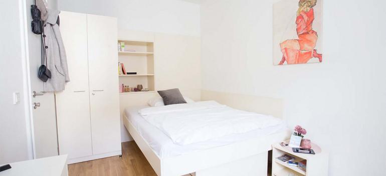 Einbettzimmer im ÖJAB-Haus Johannesgasse.