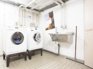 Laundry room of the ÖJAB-Haus Dr. Rudolf Kirchschläger.