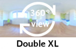 360-view of a Double XL Room.