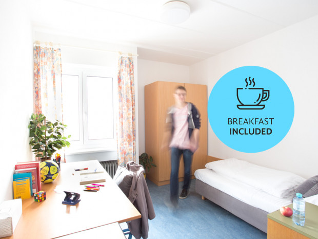 Single Room of the ÖJAB-Haus Mödling.