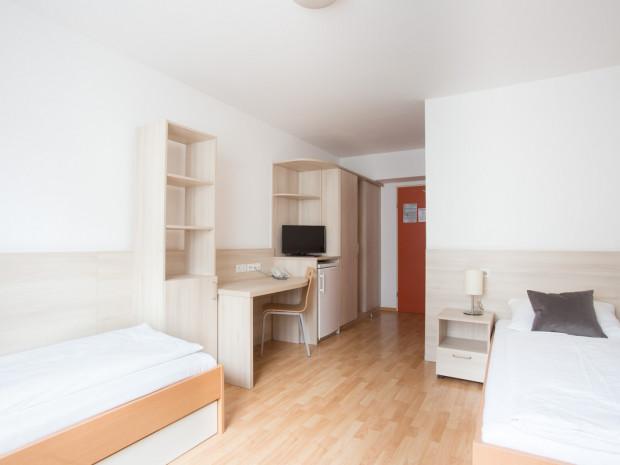 Zweibettzimmer im ÖJAB-Haus Dr. Rudolfkirchschläger.