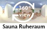 360-Grad-Aufnahme: Sauna Ruheraum