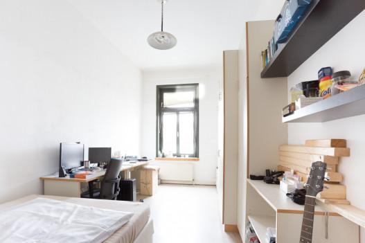 Einbettzimmer im ÖJAB-Haus Sandwirtgasse.