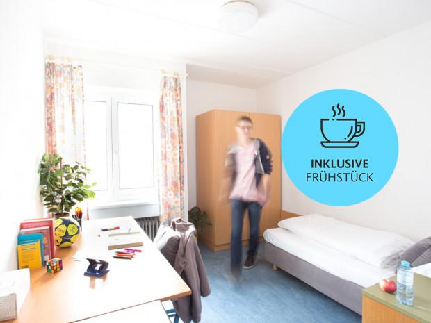 Einbettzimmer im ÖJAB-Haus Mödling.
