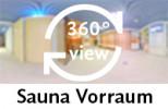360-Grad-Aufnahme: Sauna Vorraum