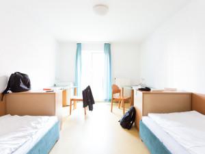 Twin room at the ÖJAB-Europahaus Dr. Bruno Buchwieser.