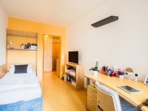 Einbettzimmer im ÖJAB-Haus Meidling.