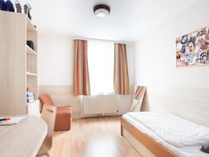 Einbettzimmer im ÖJAB-Haus Dr. Rudolf Kirchschläger.