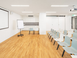 Lecture room at the ÖJAB-Haus Niederösterreich 1.