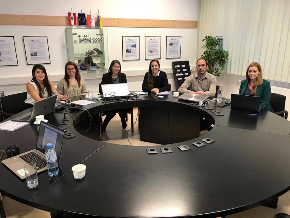 Mitglieder des Projekts beim Kick Off-Meeting am BPI der ÖJAB in Wien.