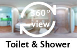 360-view of a bathroom in a Single in Double Room.