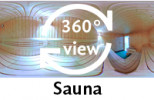 360-Grad-Aufnahme Sauna