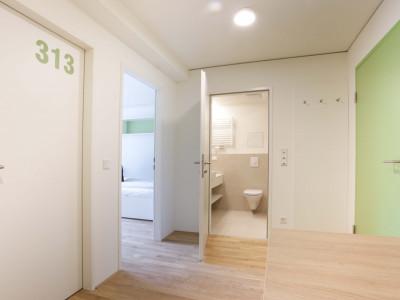 Single Room in Double Studio at the ÖJAB-Haus Niederösterreich 1.