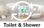 360-view of a Bathroom in a Double XL Room.