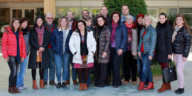 """Participants in the kick-off meeting of the project """"Involve"""" in Athens."""