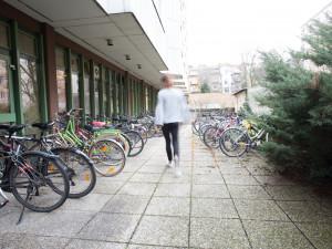 Fahrradabstellplätze des ÖJAB-Hauses Steiermark.