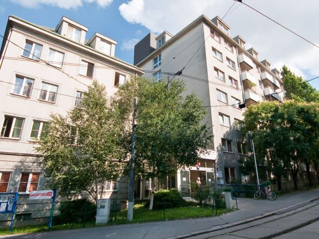 Außenaufnahme des ÖJAB-Hauses Neumargareten in Wien Meidling