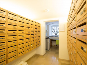 Mailboxes of the ÖJAB-Haus Johannesgasse.