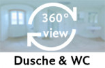 360-Grad-Aufnahme: Dusche & WC